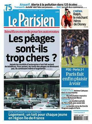 Le Parisien Mercredi 05 décembre 2012