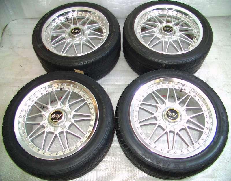 Work Rezax alloy rims wheels 17 8J 9J +47mm 5x114.3mm