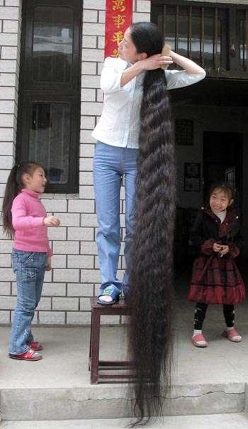 En uzun saç
