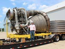 A Saturn V F-1 engine arrives at<br /> Marshall. (NASA/MSFC) <br /> <a href='http://www.nasa.gov/exploration/systems/sls/multimedia/gallery/F1-4.html' class='bbc_url' title='External link' rel='nofollow external'>View large image</a>